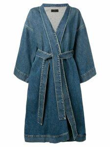 Alanui denim kimono style coat - Blue