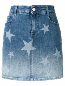 Stella McCartney star print denim skirt - Blue