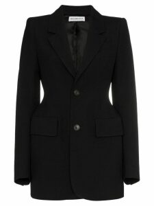 Balenciaga single breasted hourglass virgin wool blazer - Black