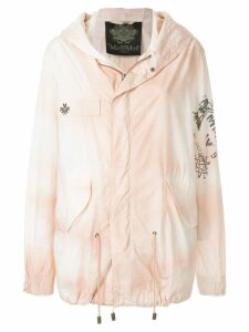 Mr & Mrs Italy printed parachute parka - Pink