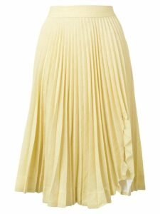 Calvin Klein 205W39nyc pleated midi skirt - Yellow