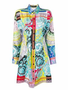 Versace Barocco print shirt dress - Multicolour