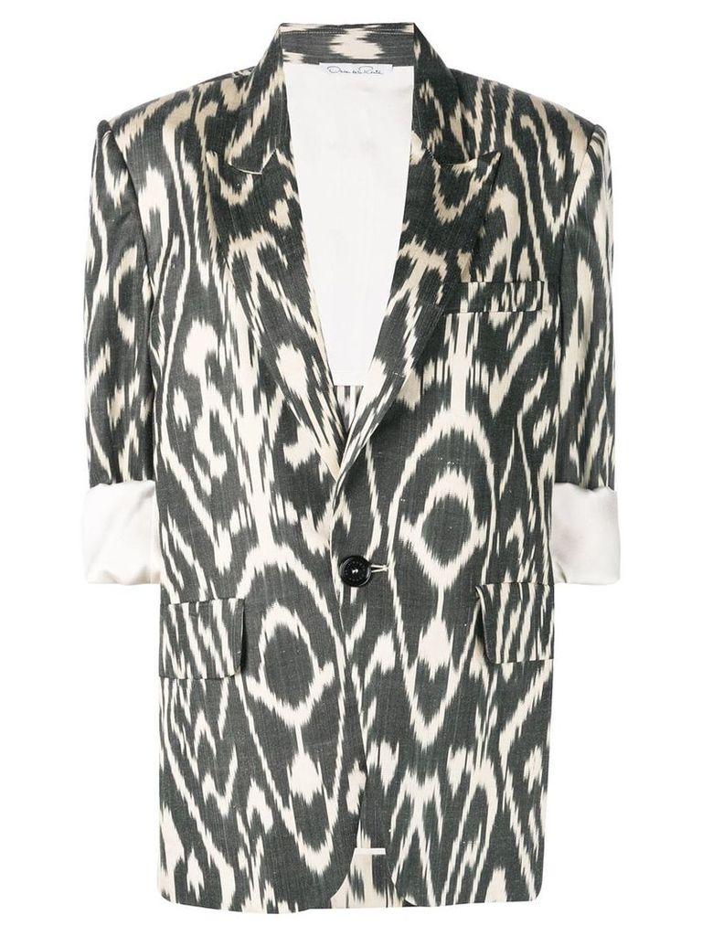 Oscar de la Renta Ikat patterned blazer - Black