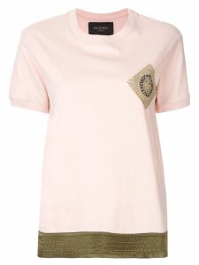 Mr & Mrs Italy logo embroidered T-shirt - Pink