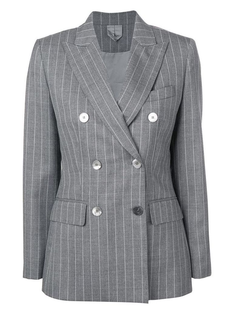 Max Mara pinstripe double breasted blazer - Grey
