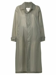 Mackintosh Slate Nylon Oversized Coat LM-100B - Grey