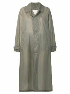 Mackintosh Slate Nylon Oversized Coat LM-100B - Grey