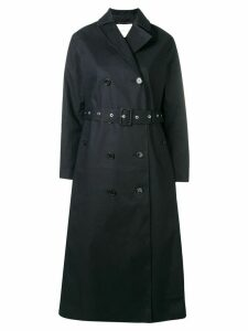 Mackintosh Black Bonded Cotton Long Trench Coat LR-091
