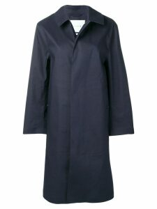 Mackintosh Navy Bonded Cotton Coat LR-089 - Blue