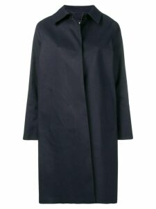 Mackintosh Navy Bonded Cotton Coat LR-020 - Blue