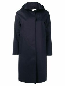 Mackintosh Navy Bonded Cotton Hooded Coat LR-021 - Blue