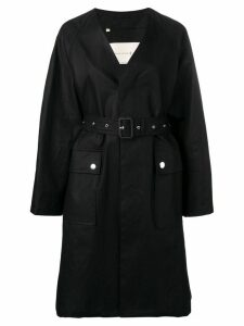 Mackintosh Black Storm System Linen V-Neck Coat LM-096B
