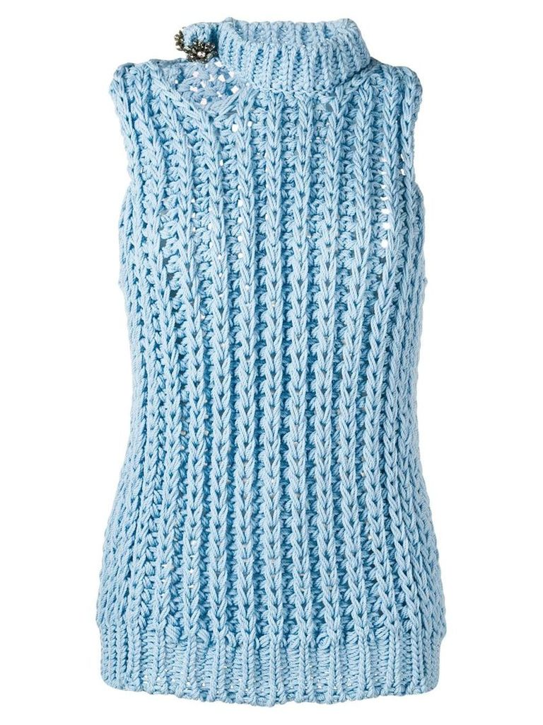 Calvin Klein 205W39nyc sleeveless knitted top - Blue