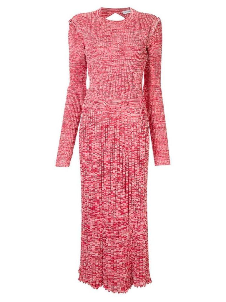 Christopher Esber knitted cold-shoulder dress - Red