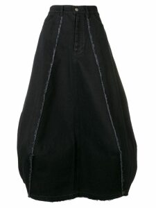 Andrea Ya'aqov balloon-shaped midi skirt - Black