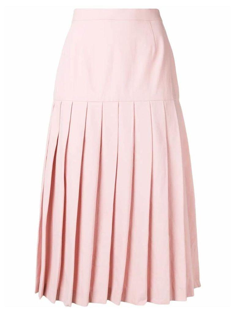 Holland & Holland pleated midi skirt - Pink