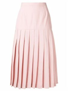 Holland & Holland pleated midi skirt - Pink