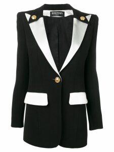 Balmain single button blazer - Black