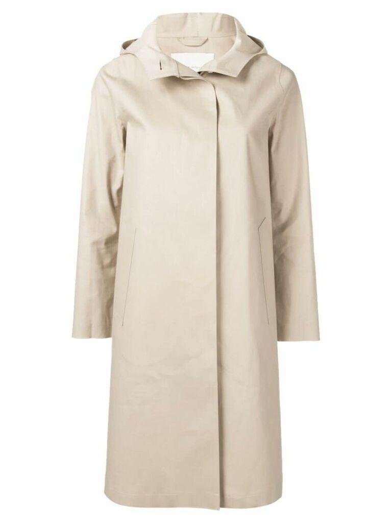 Mackintosh Putty Bonded Cotton Hooded Coat LR-021 - Neutrals