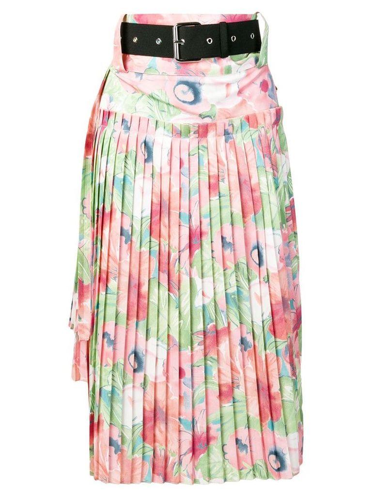 Plan C Georgette pleated skirt - Pink