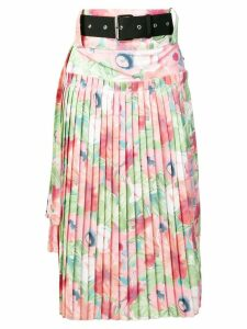 Plan C Georgette pleated skirt - Pink