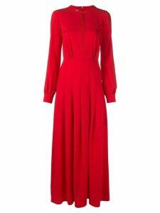 Oscar de la Renta keyhole evening dress - Red