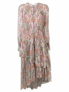 Zimmermann paisley day dress - Pink