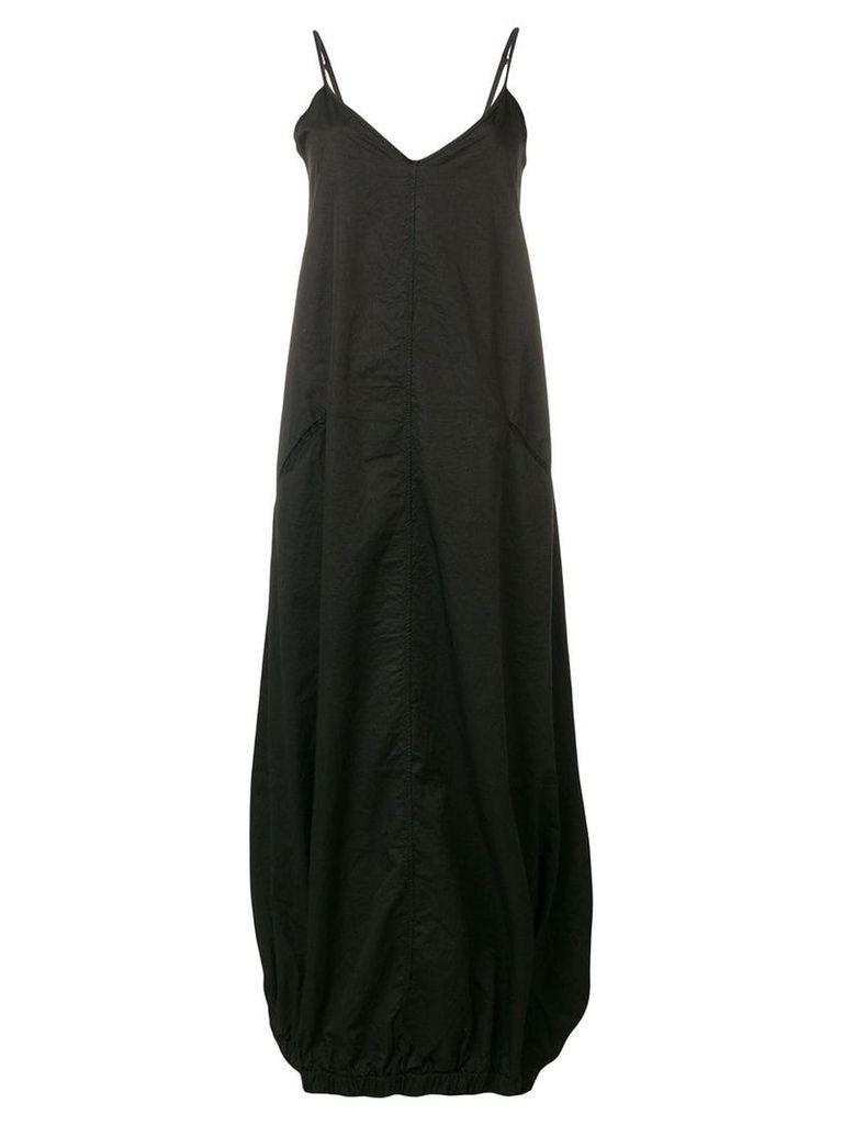 Andrea Ya'aqov elasticated hem maxi dress - Black