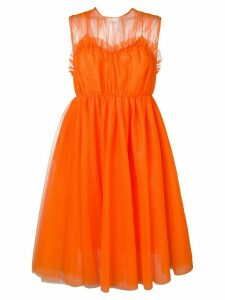 MSGM flared tulle dress - Orange