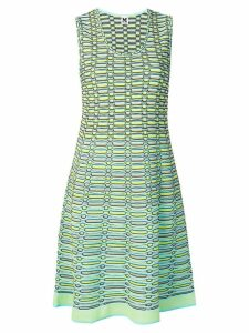 M Missoni striped knit a-line dress - Blue