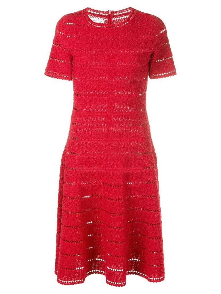 Oscar de la Renta knit dress - Red