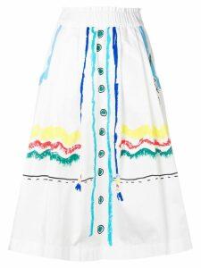 Mira Mikati Trompe L'ail Scribble skirt - White