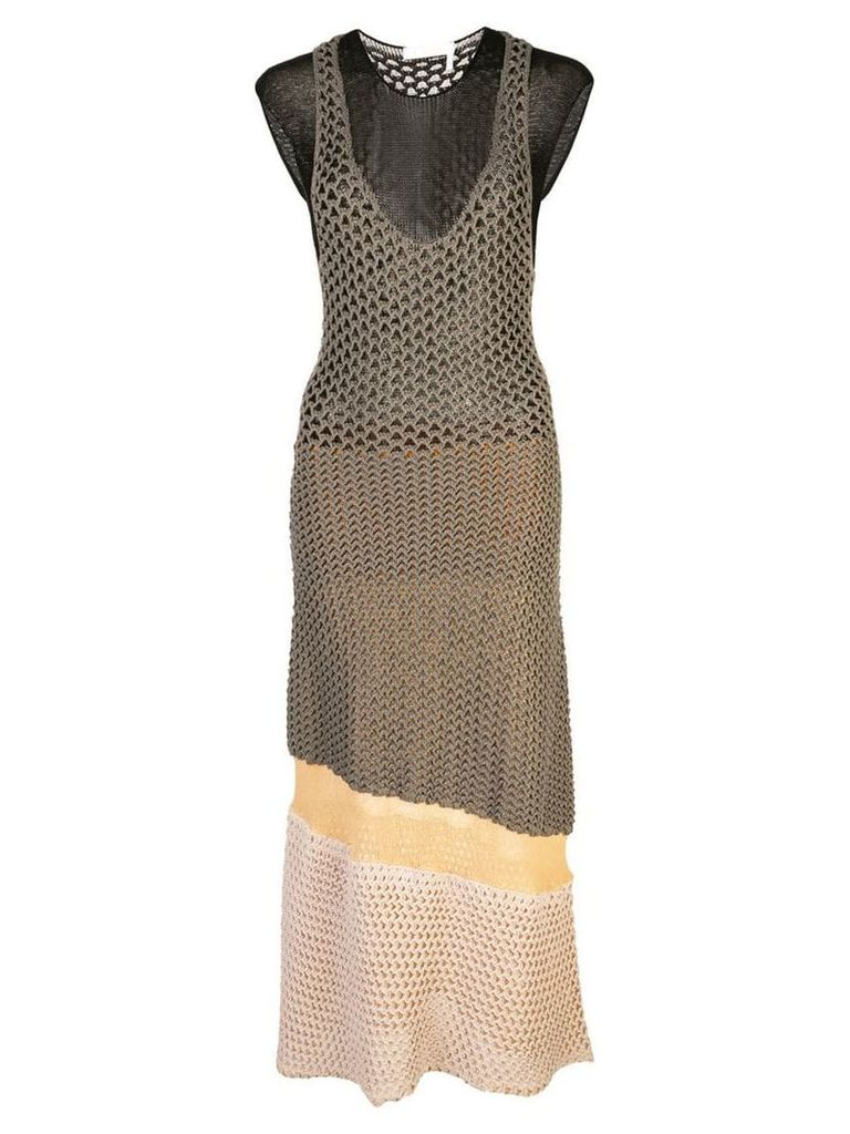 Chloé colour-block knitted dress - Grey