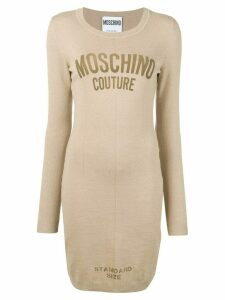 Moschino 'standard size' fitted dress - Neutrals
