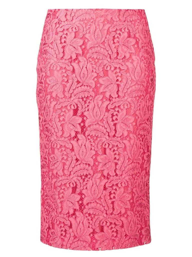 Brognano embroidered lace skirt - Pink