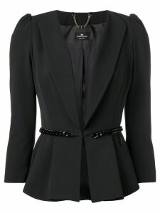 Elisabetta Franchi chain-embellished peplum blazer - Black