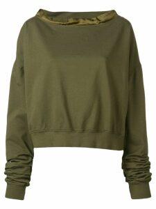 Andrea Ya'aqov loose structured sweater - Green