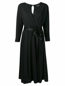 Marc Jacobs v-neck rosette dress - Black