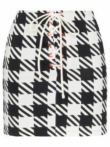 Solid & Striped Delilah houndstooth skirt - Black