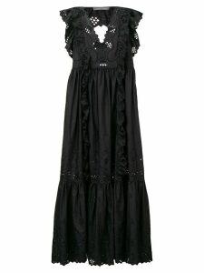 Alberta Ferretti embroidered dress - Black