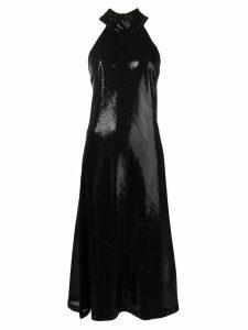 Galvan Daniela high shine dress - Black