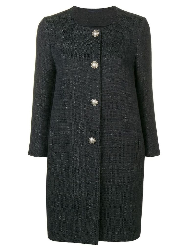 Tagliatore textured coat - Black