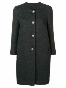 Tagliatore textured coat - Black