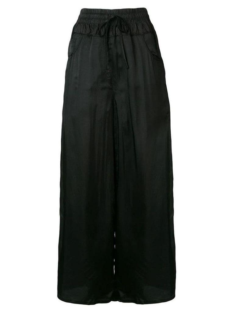 Andrea Ya'aqov long satin skirt - Black