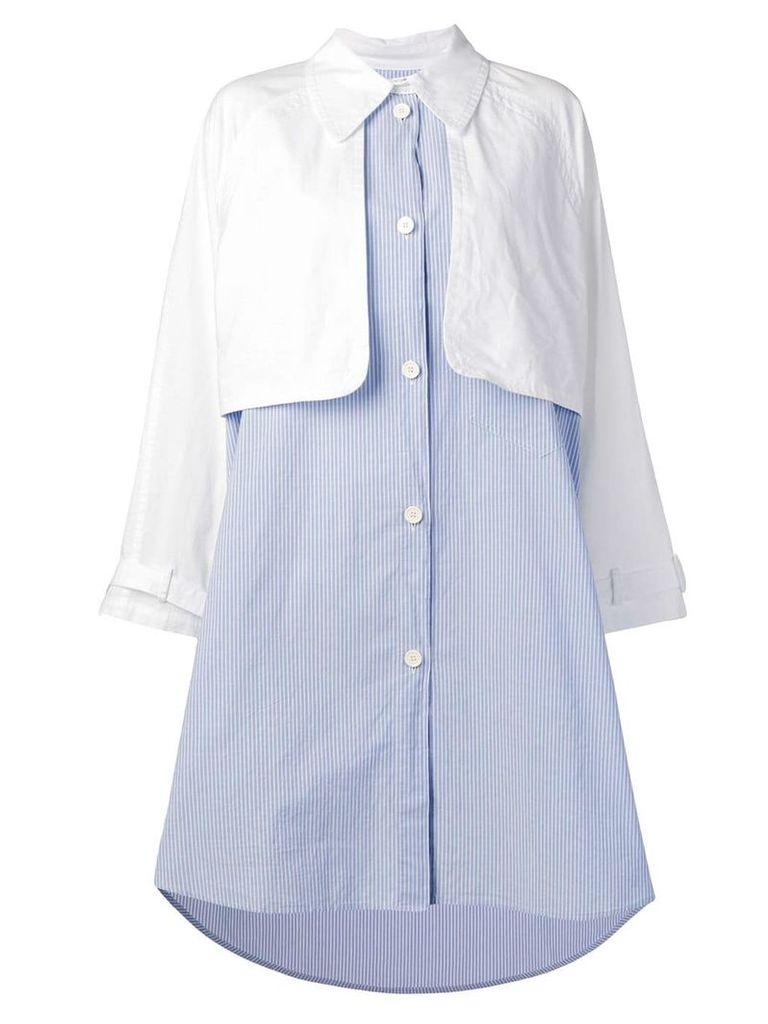 Mm6 Maison Margiela jacket-shirt dress - White