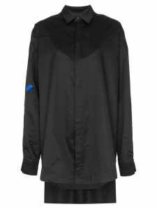 Ader Error layered oversized cotton shirt - Black