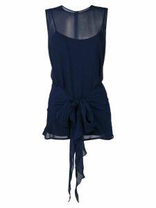 Max Mara sheer sleeveless top - Blue
