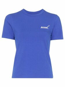 Ader Error logo-print cotton T-shirt - Blue