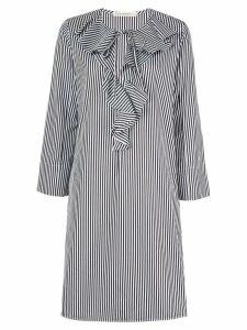 Lis Lareida striped ruffled dress - White