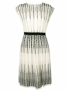 Giambattista Valli circle print dress - Neutrals